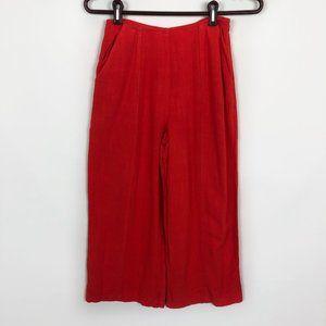 Good Luck Gem Red Flax High Waist Gaucho Pants